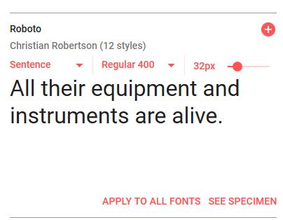 google fonts 一覧